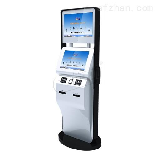 双屏立式访客机|功能全面立式人证扫描系统