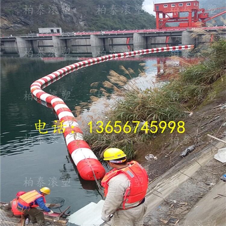 大凉山水电站拦漂排塑料浮筒生产安装