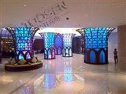 展馆室内圆柱形p3全彩LED电子屏价格