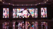 电视演播厅舞台高清全彩LED电子显示屏