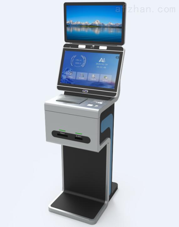 厂家供应立式人证扫描机 自助访客系统