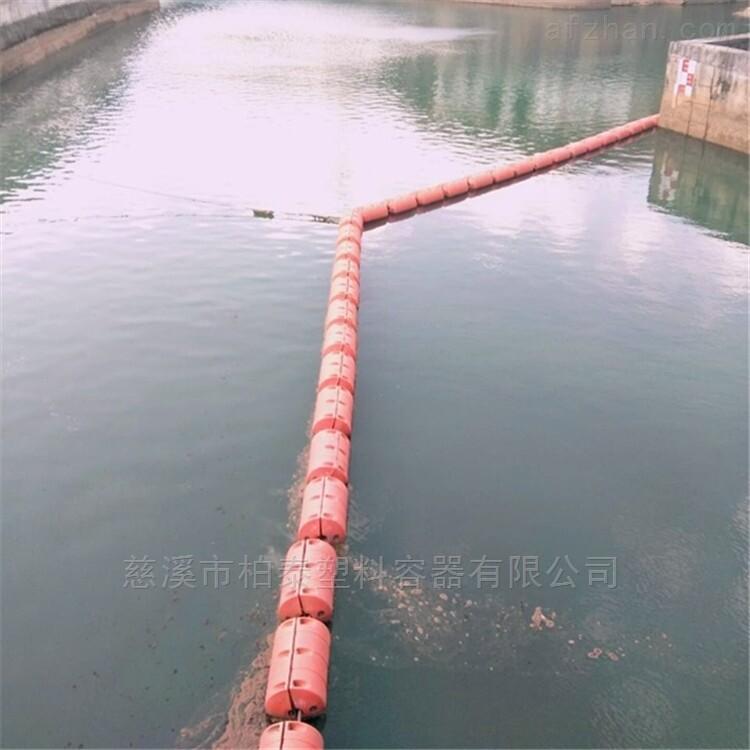 沁阳水电站拦污网浮筒,拦污漂排安装效果