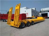 伸缩式抽拉低平板长度铁水包运输半挂车