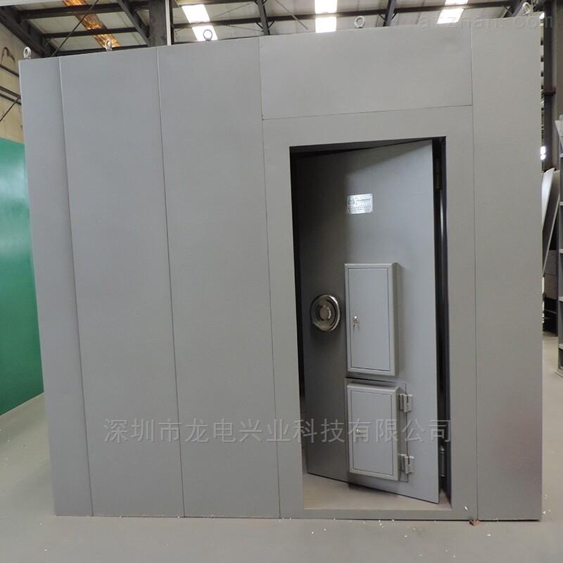龙电三锁联动碳钢金库门 组合式金库房