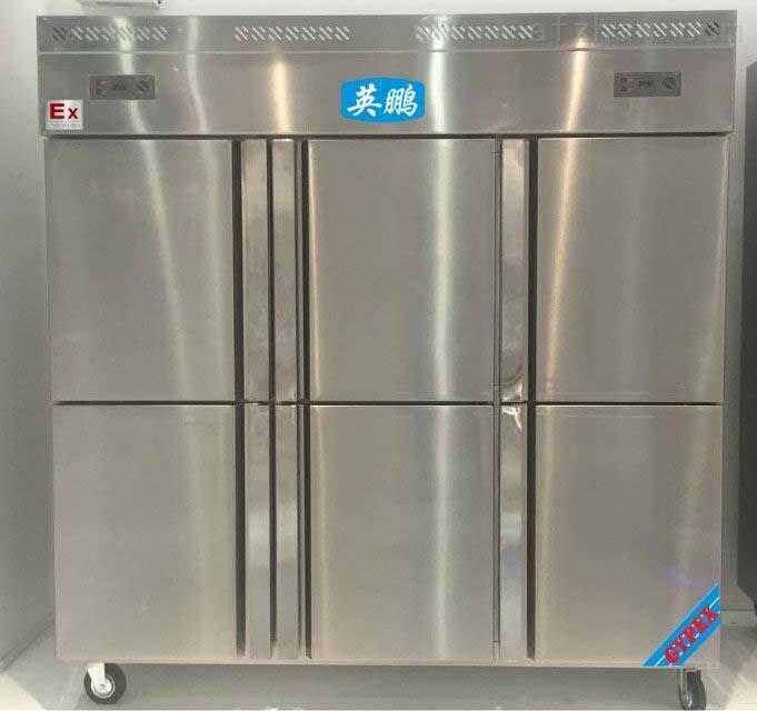 立式六门不锈钢防爆冰箱