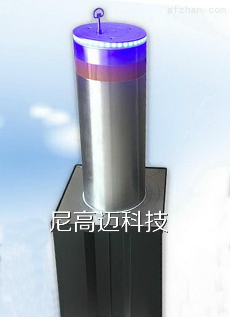 半自动液压升降柱 手动升降 带LED警示灯
