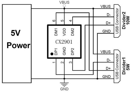 uc2500识别限流ic 多口充电器芯片