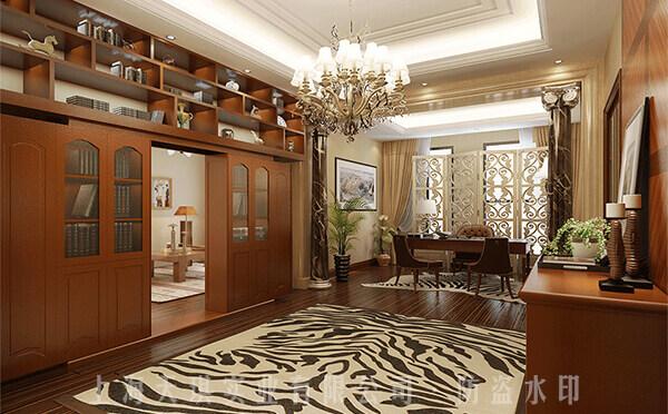书柜密室门实拍图