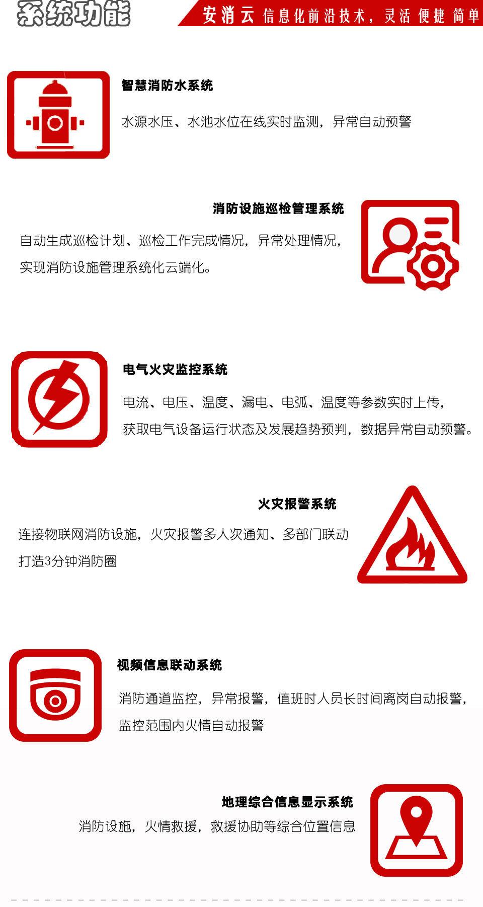 智慧消防安全服务云平台系统功能